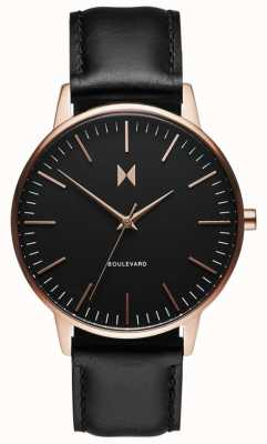 MVMT Boulevard Santa Monica | Black Leather Strap | Black Dial D-MB01-RGBL