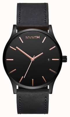 MVMT Classic Black Rose Leather | Black Strap | Black Dial D-MM01-BBRGL