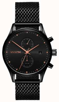 MVMT Mens Voyager Black Rose MV01-BBRG