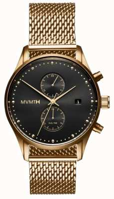 MVMT Voyager Eclipse | Rose Gold PVD Mesh | Black Dial D-MV01-G2