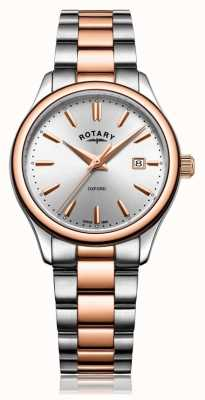 Rotary Womens Oxford Two Tone Bracelet Rose Gold LB05094/06