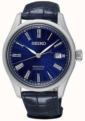 Seiko Mens Presage Limited Edition Shippo Enamel Blue Dial Leather SPB075J1