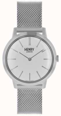 Henry London Iconic Womens Watch Silver Mesh Bracelet White Dial HL34-M-0231