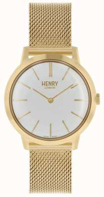 Henry London Iconic Womens Watch Gold Mesh Bracelet White Dial HL34-M-0232