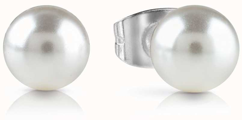 Guess Never Without You White Pearl Stud Earrings UBE28083