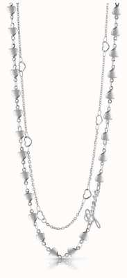 Guess Shine On Me Four Multi-Heart Necklace Silver UBN28000