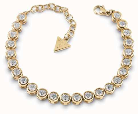 Guess Glitter Girl Gold Plated Swarovski Tennis Bracelet UBB28127