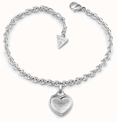 Guess Follow My Charm Small Heart Bracelet Silver UBB28024-L