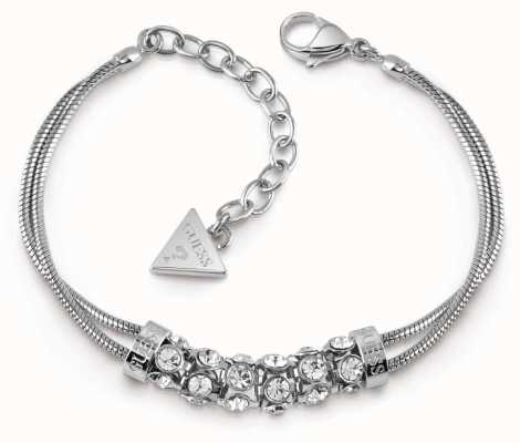 Guess Glitter Girl Crystal Coil Bracelet Silver UBB28061-L