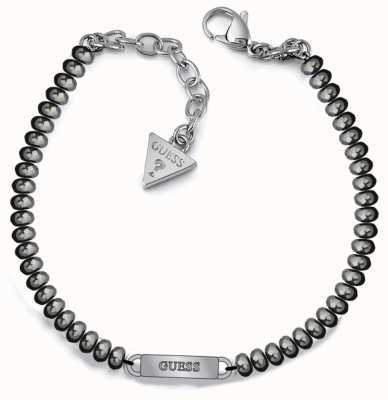 Guess Uptown Chic Silver Bead Logo Bracelet UBB28048-L