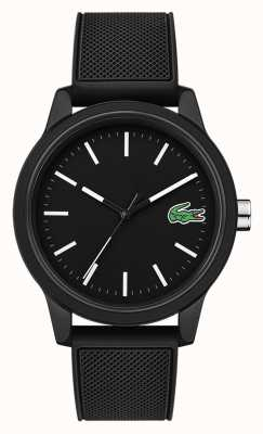 Lacoste 12.12 Black Rubber Strap Black Dial 2010986