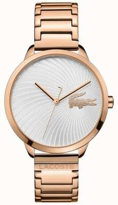 Lacoste Lexi Rose Gold Plated Silver Dial 2001060