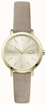 Lacoste Moon Small Leather Strap Gold Plated Case 2001049