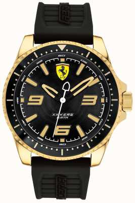 Scuderia Ferrari Mens XX Kers Gold Plated Case Rubber Strap 0830485