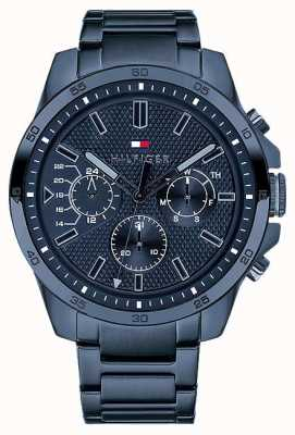 Tommy Hilfiger Men's Blue PVD Plated Multi function 1791560