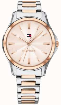 Tommy Hilfiger Womens Two Tone Rose Gold Plated Rose Gold Dial 1781952