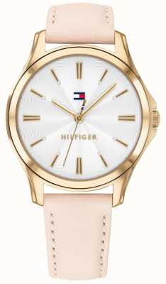 Tommy Hilfiger Lori | Blush Leather Strap | White Dial 1781954