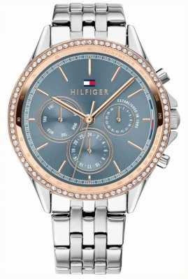 Tommy Hilfiger Ari | Stainless Steel Bracelet | Crystal Set | Grey Dial 1781976