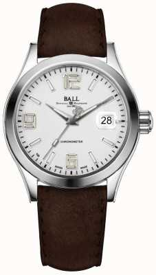 Ball Watch Company Engineer II Pioneer Silver Brown Leather Strap NM2026C-L4CAJ-SL