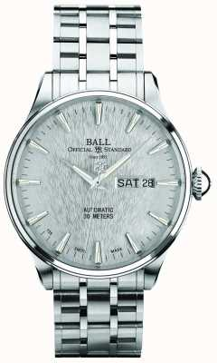 Ball Watch Company Trainmaster Eternity Silver Dial Automatic Day Date Display NM2080D-SJ-SL