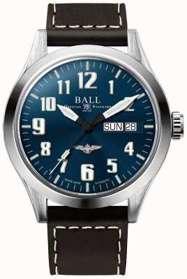 Ball Watch Company Engineer III Silver Star Brown Leather Strap Blue Dial NM2182C-L2J-BE
