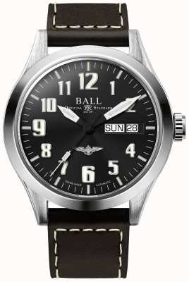 Ball Watch Company Engineer III Silver Star Brown Leather Strap Black Dial NM2182C-L2J-BK