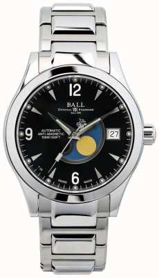 Ball Watch Company Ohio Moon Phase Automatic Black Dial Date Display NM2082C-SJ-BK