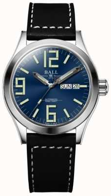 Ball Watch Company Engineer II Genesis Blue Dial Brown Leather Strap Day & Date NM2026C-LBK7-BE