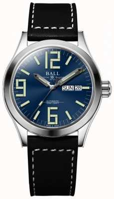 Ball Watch Company Engineer II Genesis Blue Dial Black Leather Strap Day & Date NM2026C-LBK7J-BE
