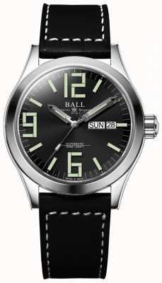Ball Watch Company Engineer II Genesis Black Dial Leather Strap Day & Date NM2026C-LBK7J-BK