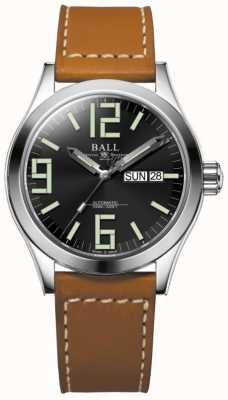 Ball Watch Company Engineer II Genesis Black Dial Tan Leather Strap Day & Date NM2026C-LBR7-BK
