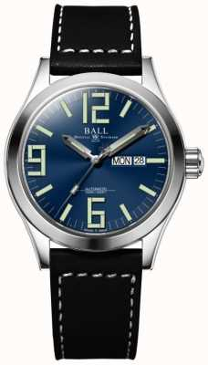 Ball Watch Company Engineer II Genesis Blue Dial Black Leather Strap Day & Date NM2028C-LBK7-BE