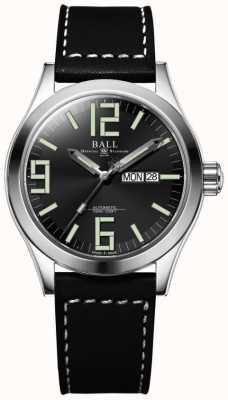 Ball Watch Company Engineer II Genesis Blac Dial Black Leather Strap Day & Date NM2028C-LBK7-BK