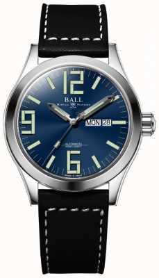 Ball Watch Company Engineer II Genesis Blue Dial Black Leather Strap Day & Date NM2028C-LBK7J-BE