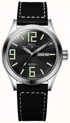 Ball Watch Company Engineer II Genesis Black Dial Leather Strap Day & Date NM2028C-LBK7J-BK