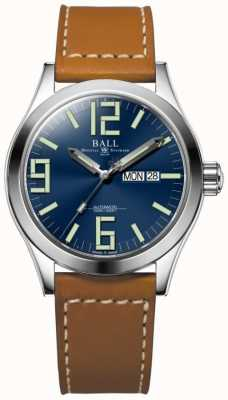 Ball Watch Company Engineer II Genesis Blue Dial Tan Leather Strap Day & Date NM2028C-LBR7-BE