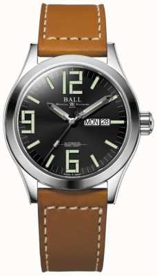 Ball Watch Company Engineer II Genesis Black Dial Tan Leather Strap Day & Date NM2028C-LBR7-BK