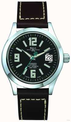 Ball Watch Company Arabic 40mm Automatic Black Dial Black Leather Strap Date NM1020C-LF4-BK