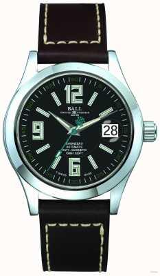 Ball Watch Company Arabic 40mm Automatic Black Dial Black Leather Strap Date NM1020C-LF4-BK