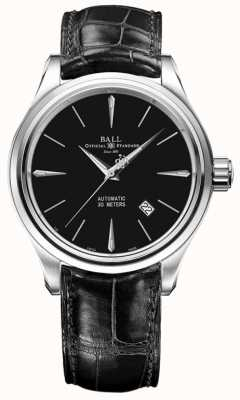 Ball Watch Company Trainmaster Legend Automatic Date Display Black Leather NM3080D-LJ-BK