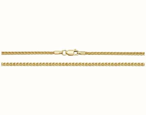 """James Moore TH 9k Yellow Gold Spiga Chain 16"""" Ch488/16"""