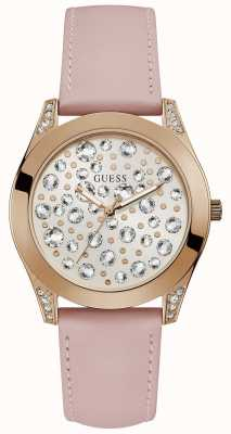 Guess Womens Wonderlust Stone Studded Dial Pink W1065L1