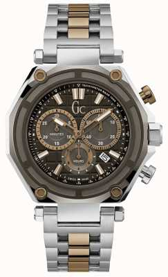 Gc Mens GC-3 Sport Silver/Gold Chronograph X10007G2S