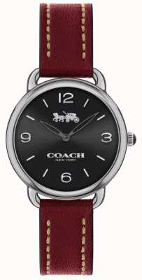 Coach Womens Delancey Slim Watch Red Leather Strap 14502792