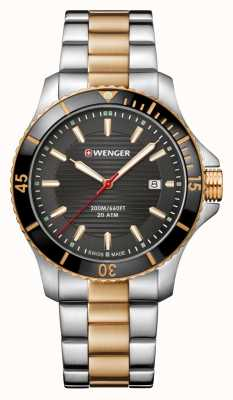 Wenger Seaforce Two Tone Metal Bracelet Watch 01.0641.127
