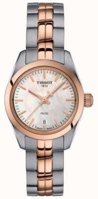 Tissot Ladies PR100 Two Tone Bracelet Mother Of Pearl Dial Watch T1010102211101
