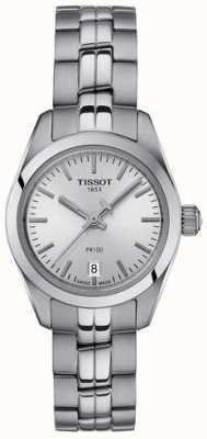 Tissot Ladies PR100 Stainless Steel Bracelet Silver Dial Watch T1010101103100