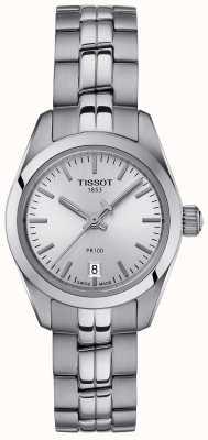 Tissot Women's PR100 Stainless Steel Bracelet Silver Dial Watch T1010101103100