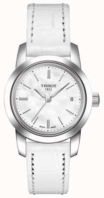 Tissot Womens Classic Dream White Leather Strap T0332101611100