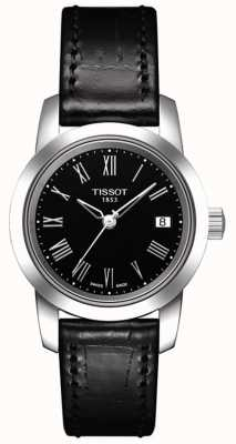 Tissot Womens Classic Black Leather Strap Black Dial T0332101605300